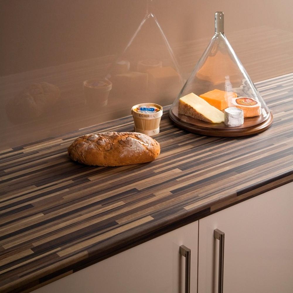 bushboard, omega, ultramatt, ebony stripwood, kitchen worktop
