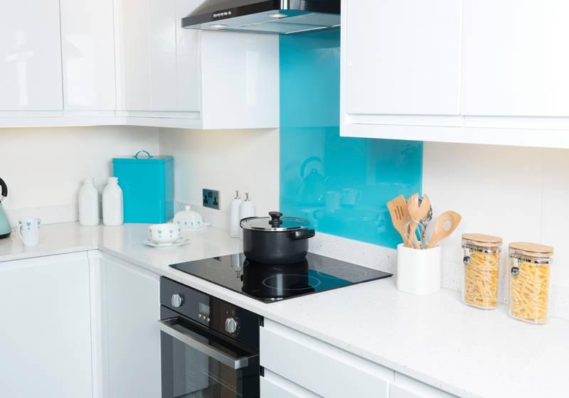 mazan, blue acrylic glass panel