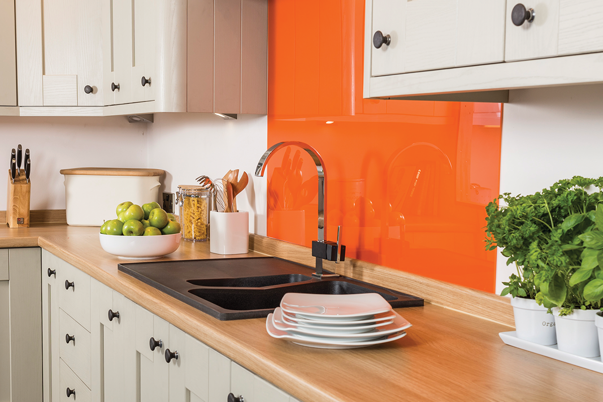 mazan, orange glass panel