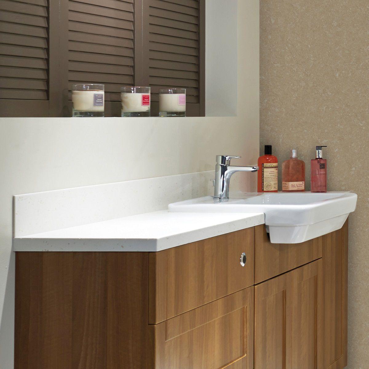 nuance, bathroom slim solid surface worktops